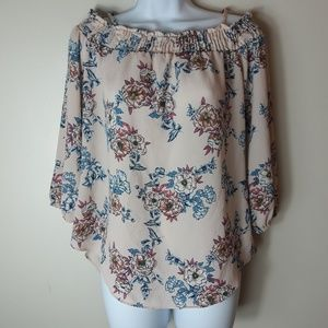 Moa Moa  Off Shoulder Floral Print Top (A311)